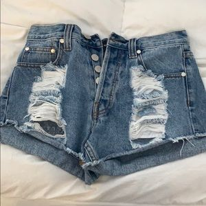 Mink Pink High Waisted Jean Shorts